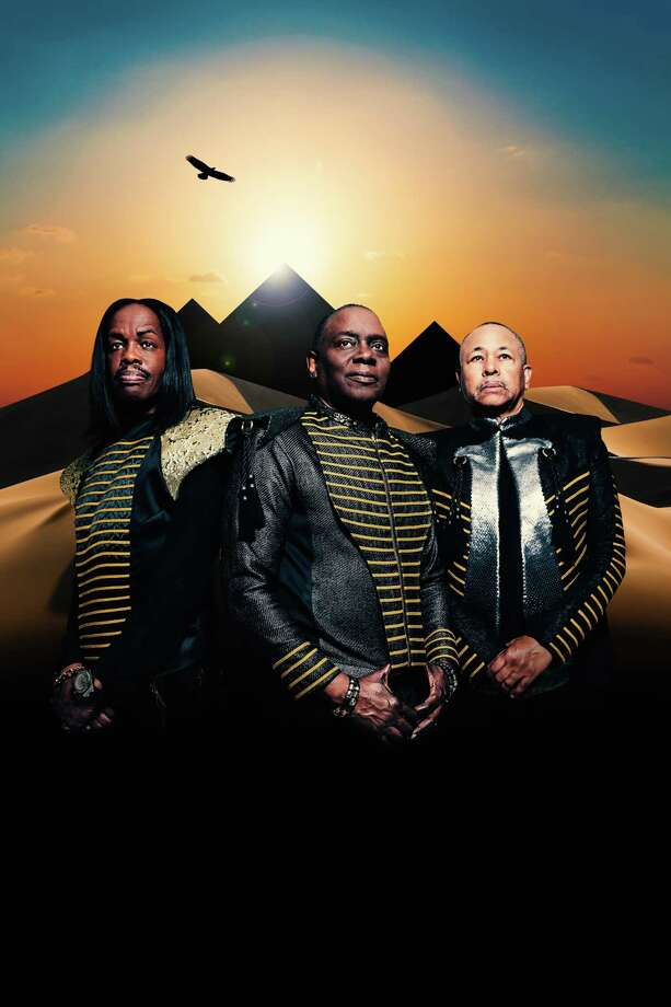 Earth, Wind & Fire will perform at Hartford's Xfinity Theatre on Saturday, Aug. 26. From left are Verdine White, Philip Bailey and Ralph Johnson. Photo: Jabari Jacobs / Contributed Photo