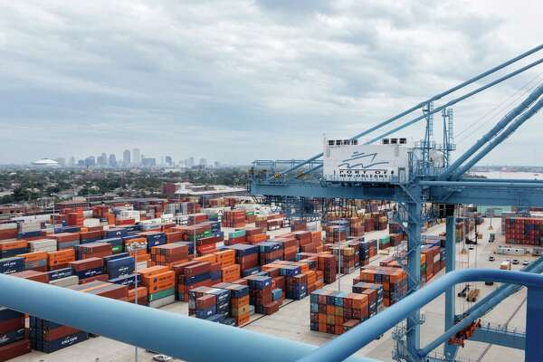 Containers at the Port of New Orleans.