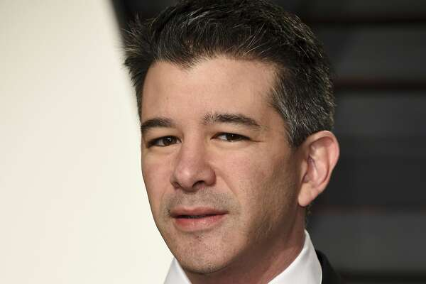 FILE - In this Feb. 26, 2017, file photo, then-Uber CEO Travis Kalanick arrives at the Vanity Fair Oscar Party in Beverly Hills, Calif. Former Uber CEO Kalanick is skewering a lawsuit filed by a former ally, describing it as a malicious attempt to sever his remaining ties to the ride-hailing service that he co-founded. Kalanick lashed out in legal documents filed late Thursday, Aug. 17, 2017, in response to a lawsuit filed against Uber a week earlier by one of its major investors and a former Kalanick supporter, Benchmark Capital. (Photo by Evan Agostini/Invision/AP, File)