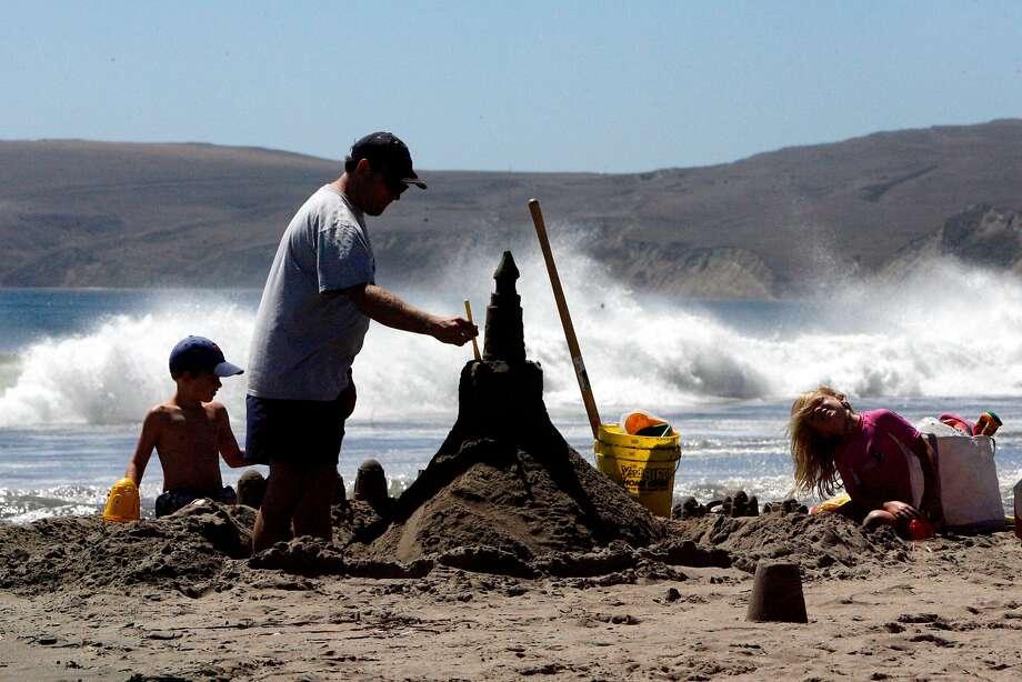 The Point Reyes Sand Sculpture Contest runs Sunday, Aug. 27 at Drake's Beach, Point Reyes National Seashore, Marin County. Photo: Katy Raddatz, The Chronicle