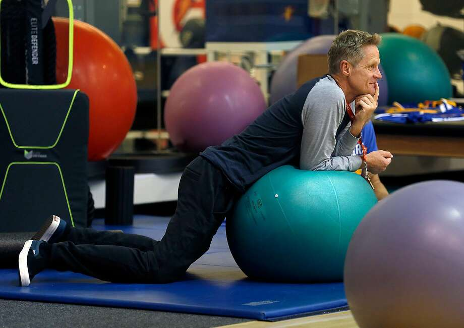 "Steve Kerr, who had to step away from coaching for part of the postseason, says he feels better. ""But I still feel like there's improvement to make."" Photo: Liz Hafalia, The Chronicle"