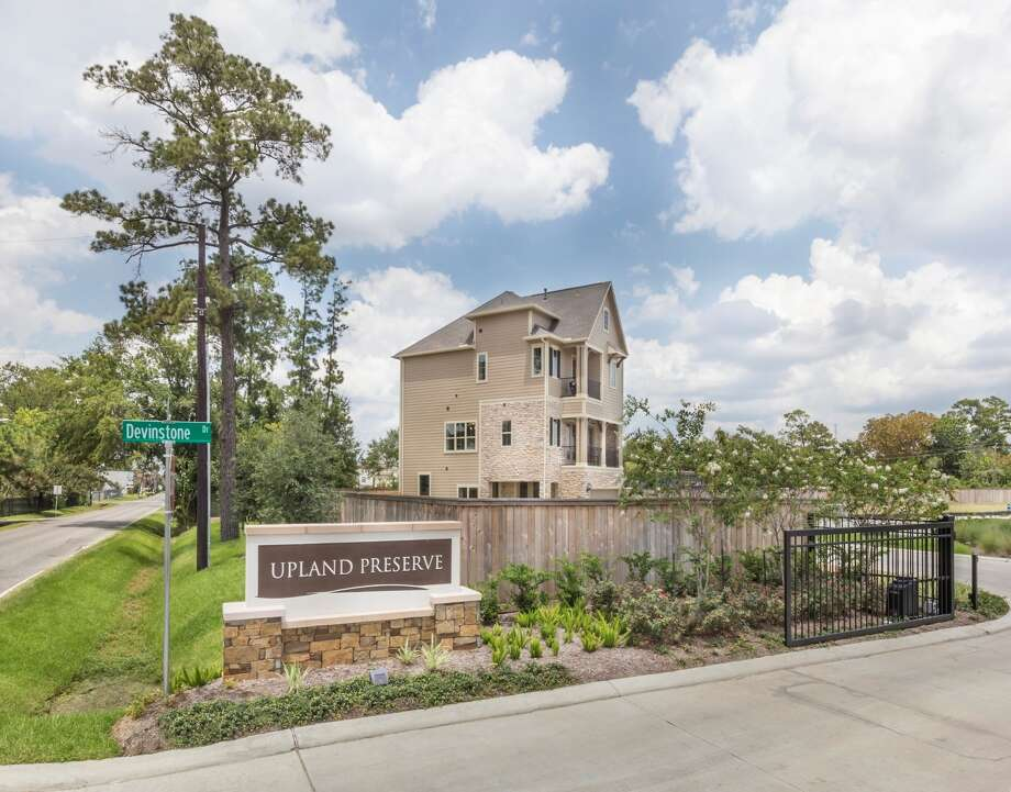 Upland Preserve, one of Lennar's new in-town townhome communities, is located at 1410 Upland Drive near Britmoore in Spring Branch. Photo: Lennar