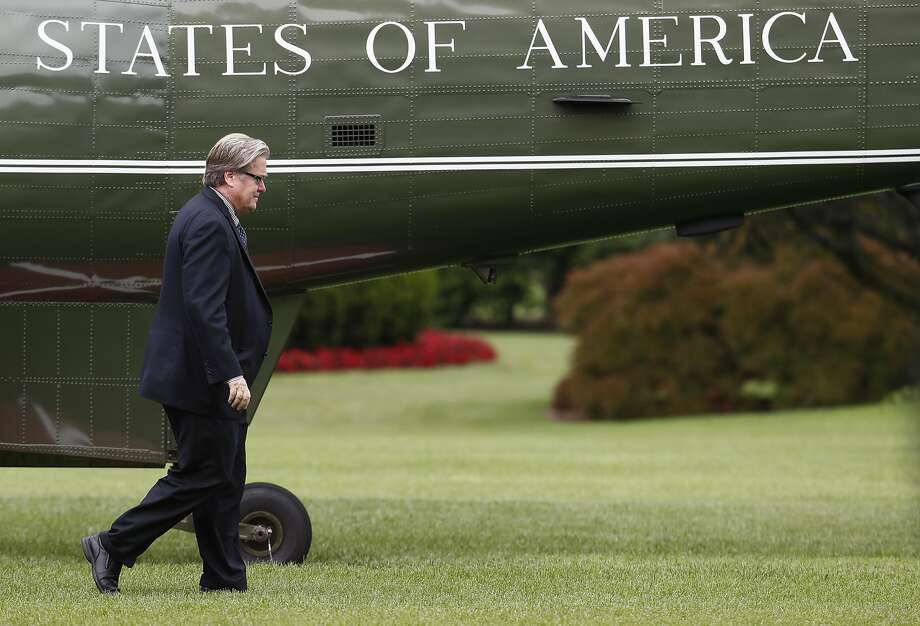 Stephen Bannon, President Trump's former chief adviser, was a polarizing figure in a White House beset by division. Photo: Carolyn Kaster, Associated Press