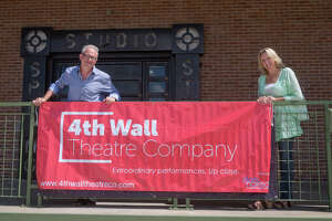 """The Stark Naked Theatre Company has changed its name.  It is now to be known as 4th Wall Theatre Company. Philip Lehl and Kim Tobin-Lehl, the artistic directors of the group, are currently leading rehearsals for a new production of Sam Shepard's """"True West."""" Photo By R. Clayton McKee"""