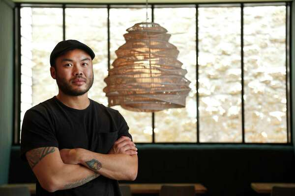 James Beard Award-winning chef Paul Qui in his new restaurant, Aqui, at 520 Westheimer, Friday, Aug. 18, 2017, in Houston.