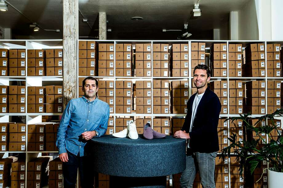 Joey Zwillinger (left) a former clean-tech entrepreneur, and Tim Brown, the former vice captain of the New Zealand soccer team, started Allbirds. Photo: CHRISTIE HEMM KLOK, NYT