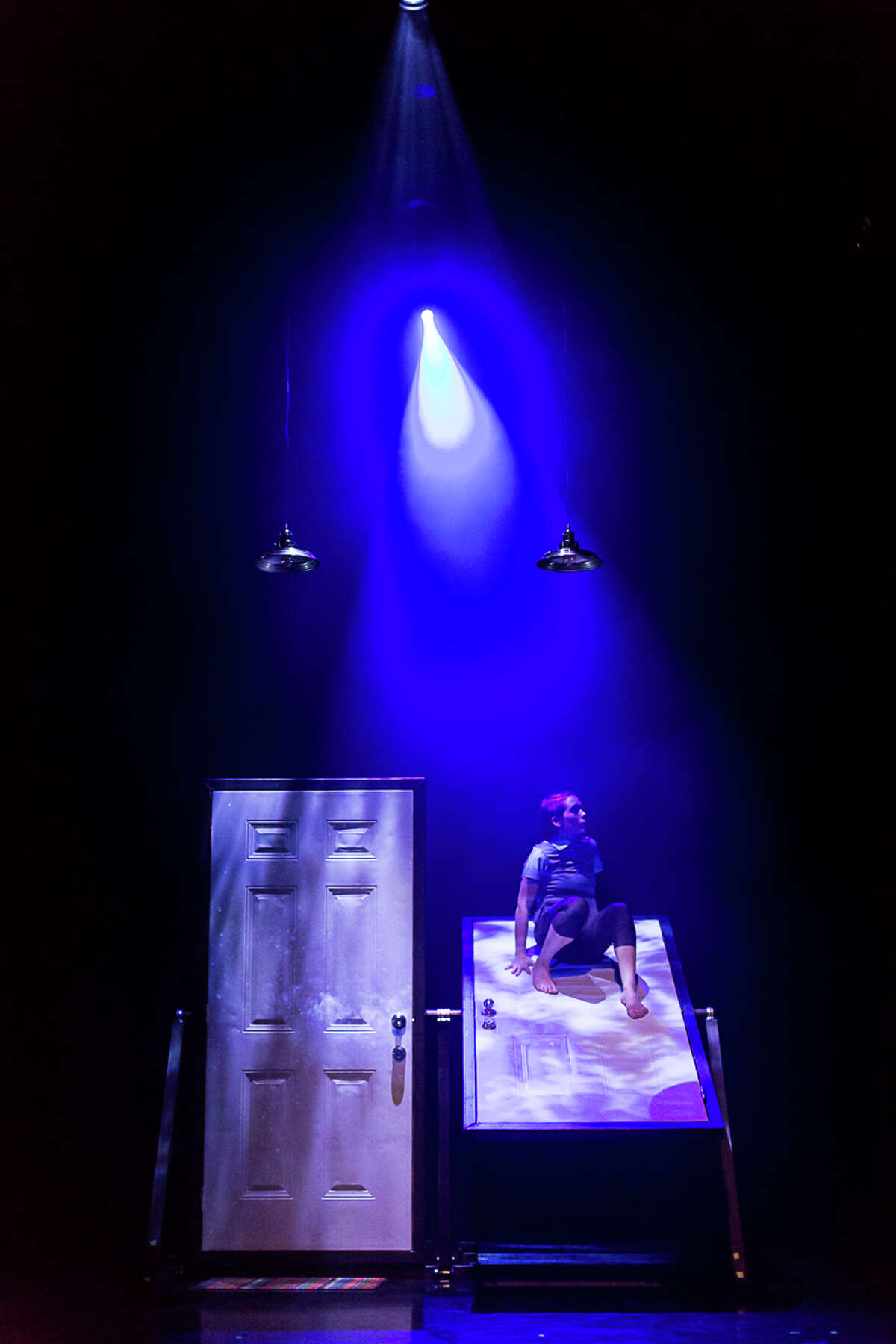 """NobleMotion Dance's """"Portal"""" involves movement through and around doors, including a mechanized set by Jared Doster."""