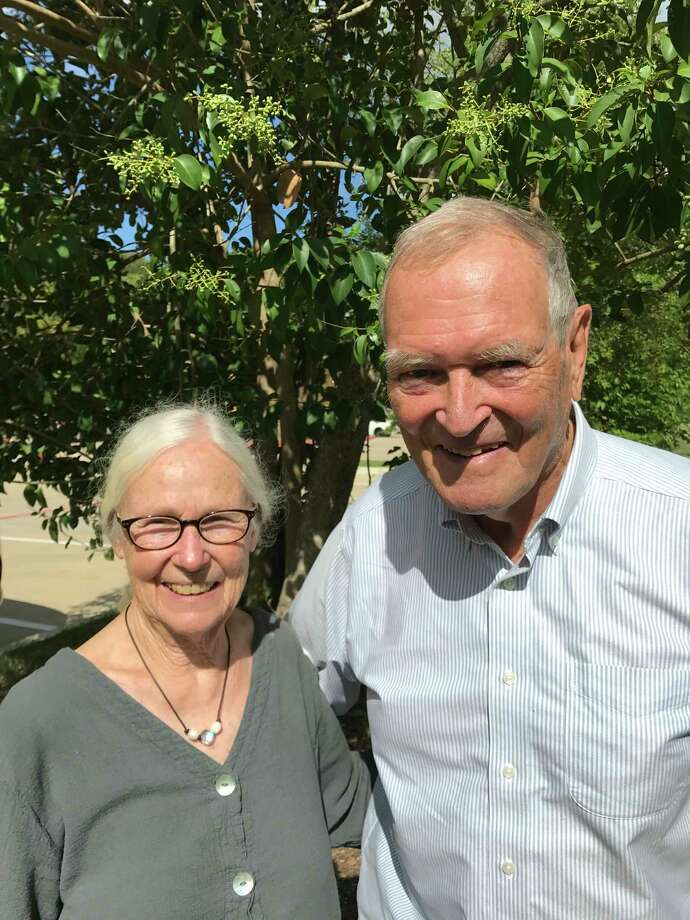 Architects and hotel owners Maryann and Clovis Heimsath moved from Houston to Fayetteville in 1974. / Houston Chronicle