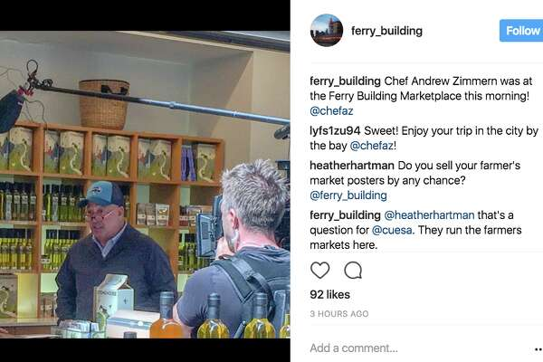 TV host Andrew Zimmern spotted filming, fingering fungi at