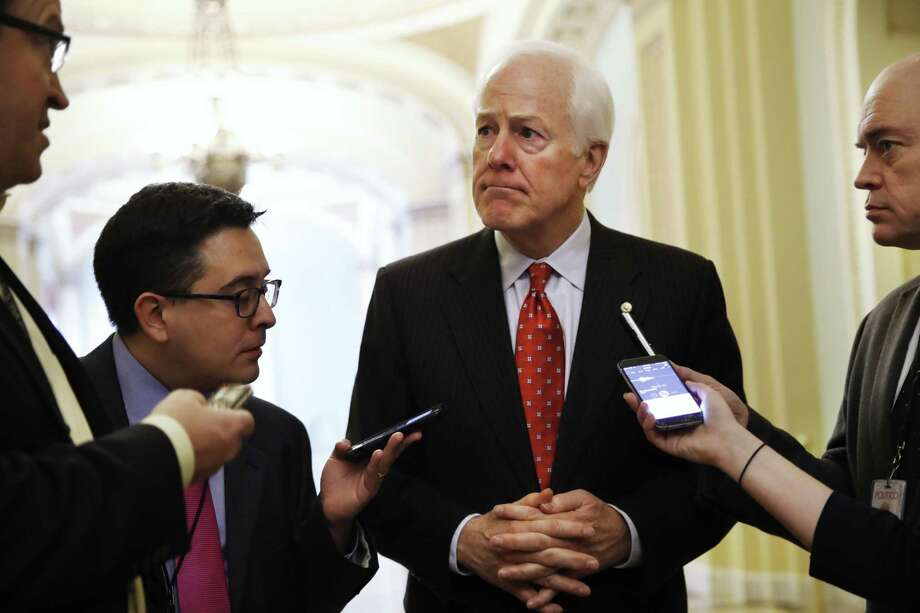 FILE - In this May 10, 2017 file photo, Senate Majority Whip John Cornyn of Texas talks with reporters on Capitol Hill in Washington. President Trump and his GOP allies on Capitol Hill have made it through nearly half their first year in power without a single major legislative achievement. If that's going to change, it will have to start soon, a reality that Republican lawmakers will confront when they return to the Capitol on Monday from a weeklong break.  (AP Photo/Jacquelyn Martin, File) Photo: Jacquelyn Martin, STF / Associated Press / Copyright 2017 The Associated Press. All rights reserved.