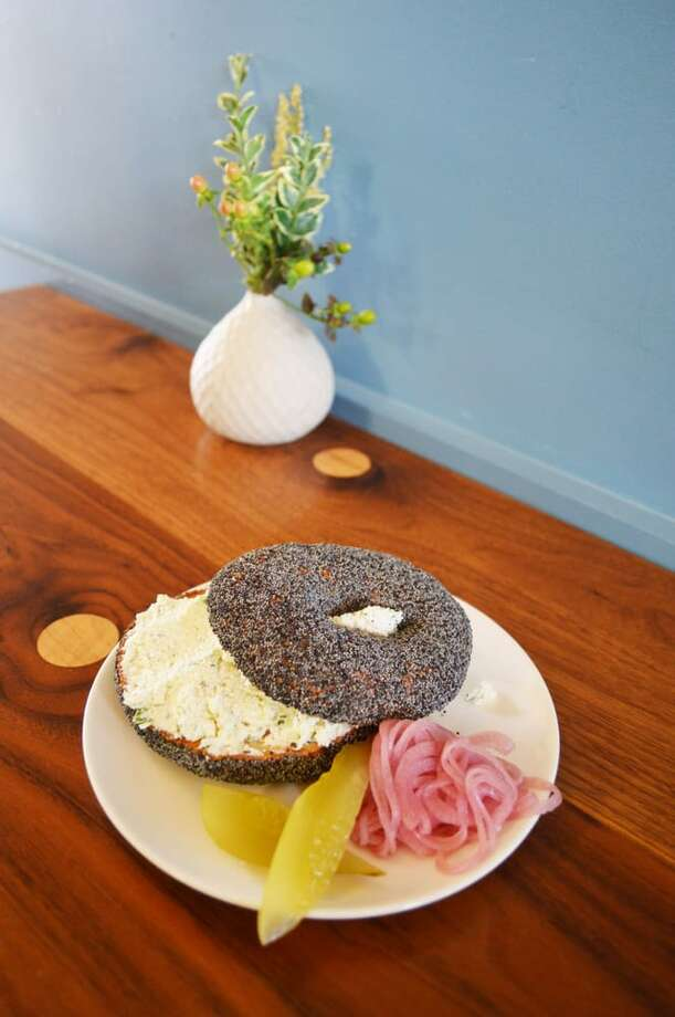 "Nicolette Manescalchi (Executive Chef, A16)Bagel from Marla Bakery""This is a tough questions as I have a 1 year old son and that has put a big halt on my dining out.  Due to my current lifestyle which is consumed with work and baby, I'd have to say the thing I eat out the most and always enjoy are the bagels from Marla Bakery.""I love that the bagels are coated in seeds.  The poppy seed, sesame seed and multi seed are all great.  They also have a wonderful texture.  They have house made farmer's cheese that comes with the bagels as well as smoked or cured McFarland Springs trout which I love.  It's great to have a neighborhood bakery that uses the same quality and care in their ingredients and preparation that we use at A16.""Marla Bakery, 3619 Balboa St, San Francisco. (415) 742-4379.A16, 2355 Chestnut Street, San Francisco. (415) 771-2216. Photo: Yelp User Edna C."