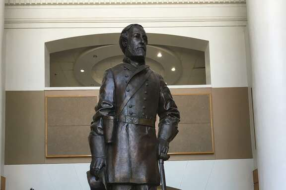 The statue of Confederate Gen. Robert E. Lee in the main entry foyer of Lee High School in San Antonio's North East Independent School District.