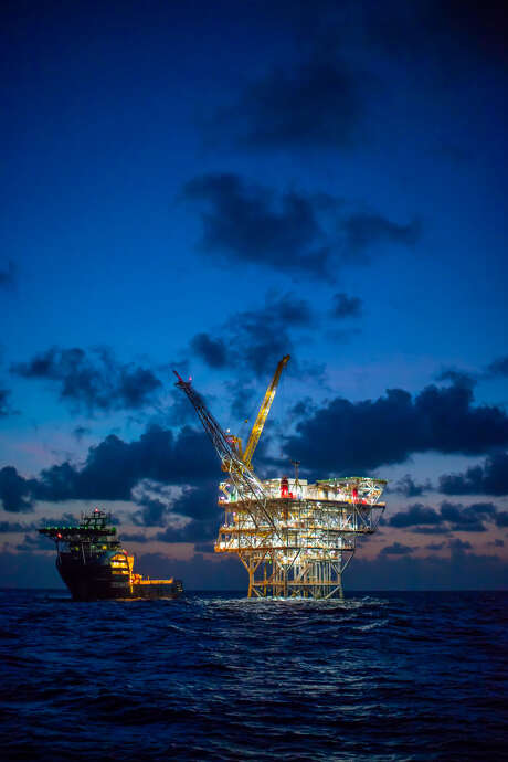 BP's Juniper gas production platform is about 50 miles off the southeast coast of Trinidad. Photo: BP / BP
