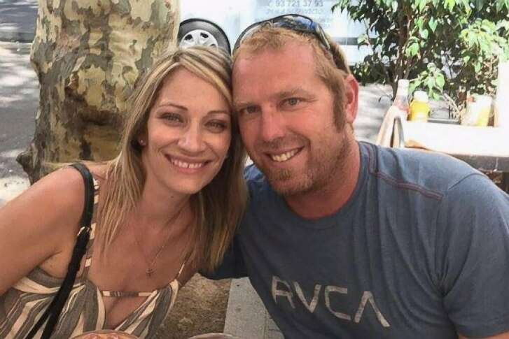 Jared Tucker, 42, of Lafayette, was killed in Thursday's terrorist        attack in Barcelona, Spain. He poses here with his wife of one year,        Heidi Nunes-Tucker.