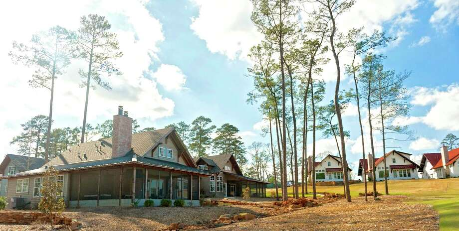 Bluejack National, a resort-style community and private club in Montgomery, offers various types of residences. Cottages, left, and member suites, right, are options for buyers of vacation properties. Photo: Bluejack National