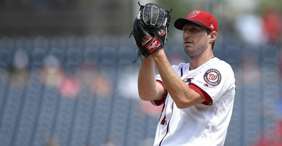 Max Scherzer was scratched from his scheduled start Friday night and placed on the 10-day disabled list with a sore neck. Photo: Nick Wass/Associated Press
