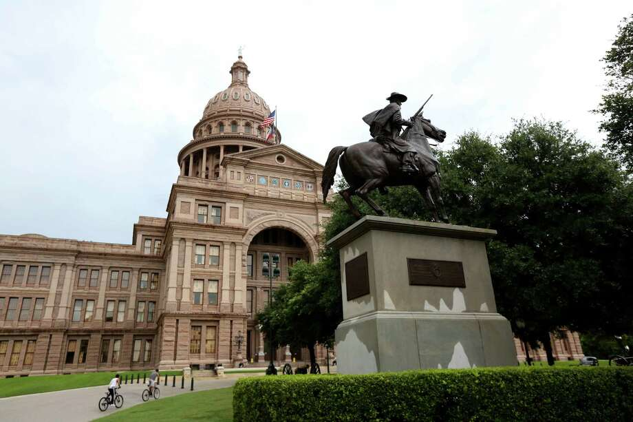 Terry's Texas Rangers is one statue honoring Confederate defenders in the Civil War on the Texas State Capitol Grounds in Austin. The bronze statue portrays one of Terry's Texas Rangers, who were mustered in 1861 at Houston after Benjamin Terry and Thomas Lubbock's called for volunteers. Ten companies of 100 men each were formally activated as the 8th Texas Cavalry. Photo: Gary Coronado, Staff / © 2015 Houston Chronicle