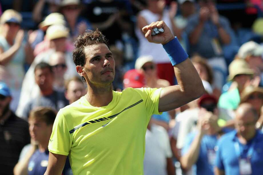 MASON, OH - AUGUST 18:  Rafael Nadal of Spain celebrates after defeating Albert Ramos-Vinolas of Spain during Day 7 of the Western and Southern Open at the Linder Family Tennis Center on August 18, 2017 in Mason, Ohio.  (Photo by Rob Carr/Getty Images) Photo: Rob Carr, Staff / 2017 Getty Images