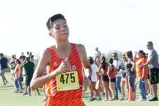 United's Alex Muñoz finished in fourth place to be the top local finisher in the Boy's varsity division of the LISD Cross Country meet at the Max Mandel Golf Course, Friday, August 18, 2017.