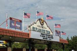Six Flags Over Texas' Arlington theme park is flying just the U.S. flag now. Of Six Flags' 20 theme parks, only the Arlington park, Six Flags Fiesta Texas in San Antonio and Six Flags Over Georgia flew all six flags.