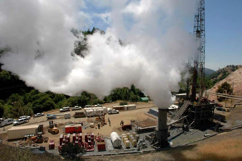 A geothermal plant in California operated by Houston-based power company Calpine. Photo: Calpine Corp., Courtesy To The Chronicle / Courtesy to The Chronicle