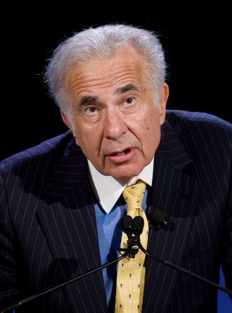 FILE - In this Oct. 11, 2007 file photo, activist investor Carl Icahn speaks at the World Business Forum in New York. President Donald Trump is losing another informal adviser: billionaire investor Carl Icahn, who gave the White House guidance on its deregulation efforts, Friday, Aug. 18, 2017. (AP Photo/Mark Lennihan, File) Photo: Mark Lennihan, STF / AP2007