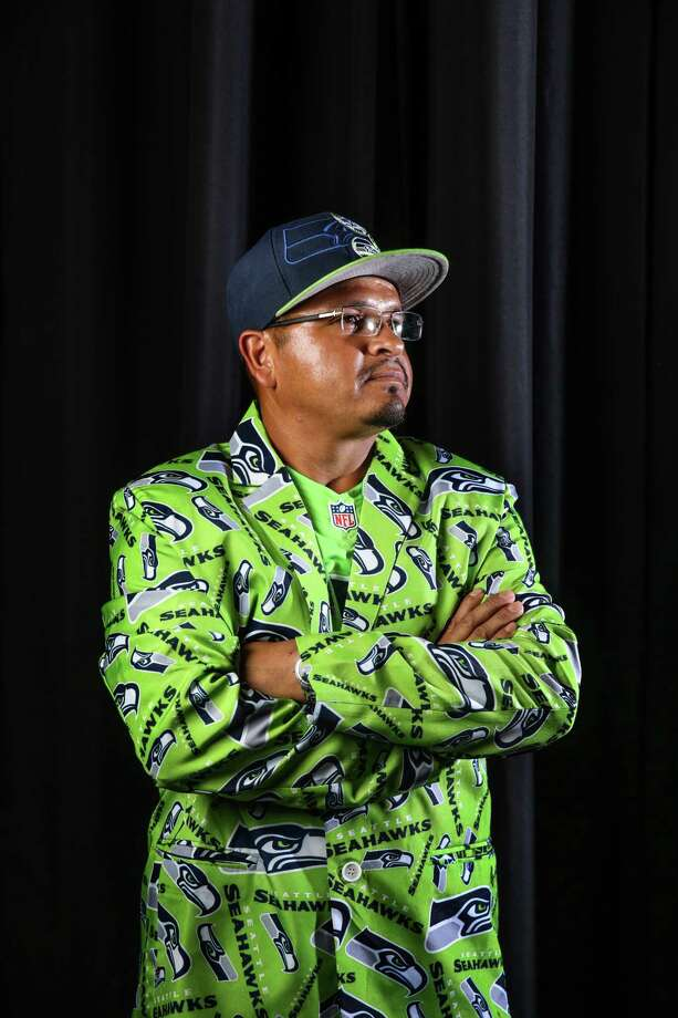 Francisco Esquivel poses for a portrait before a Seahawks game at CenturyLink Field, Aug. 18, 2017. Photo: GENNA MARTIN, GENNA MARTIN, SEATTLEPI.COM / SEATTLEPI.COM