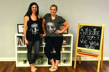 Vive Yoga Studio co-owners Felice Anthony Thomas, left, and Alexis Young.