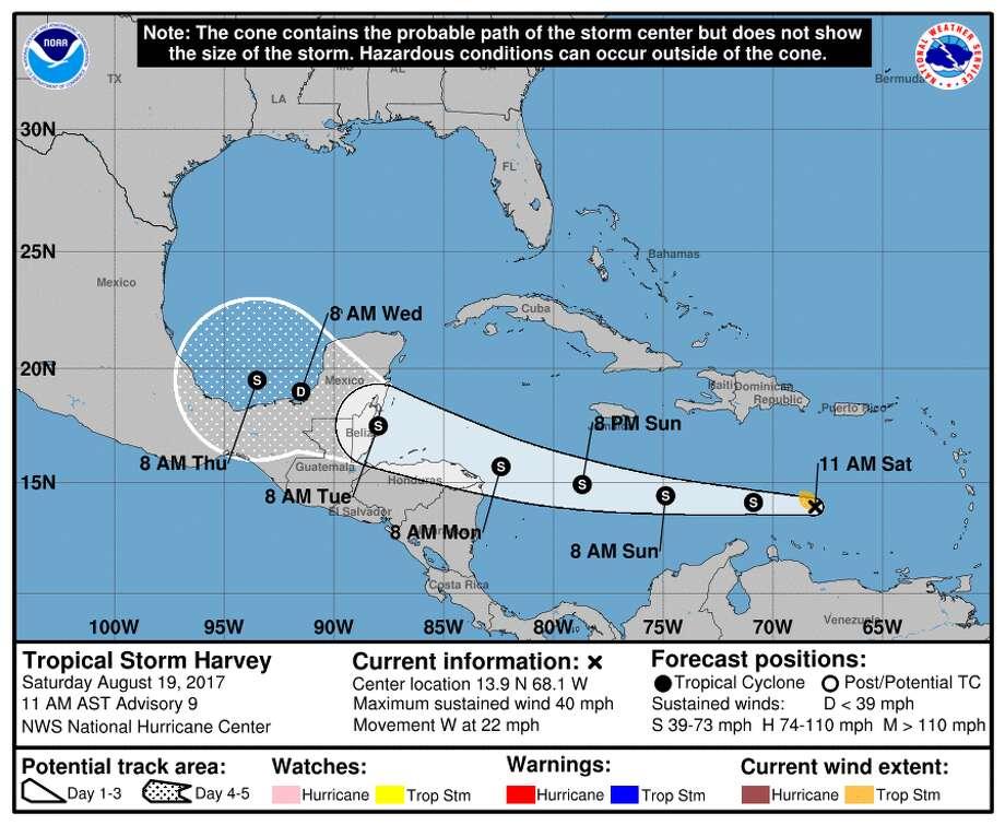 Map Of Central America Yucatan Peninsula.Tropical Storm Harvey Forecasts Satellite Radar Maps To Explain