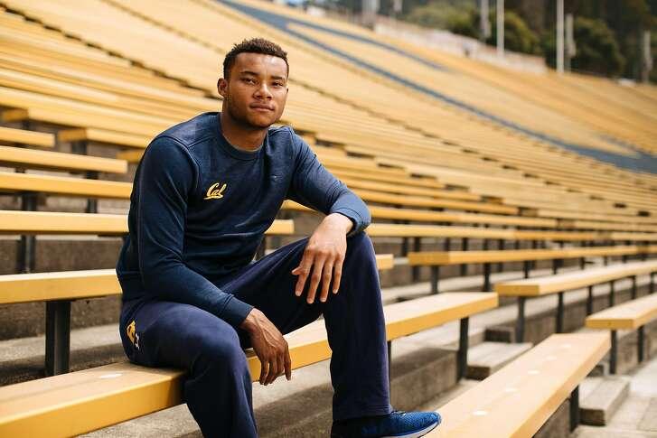 Cal receiver Demetris Robertson photographed at California Memorial Stadium in Berkeley, Calif. Saturday, August 12, 2017.