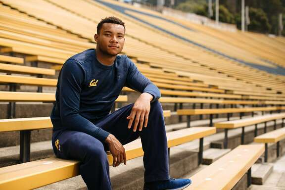 Cal receiver Demetris Robertson photographed at California Memorial Stadium in Berkeley, Calif. Saturday, August 12, 2017.