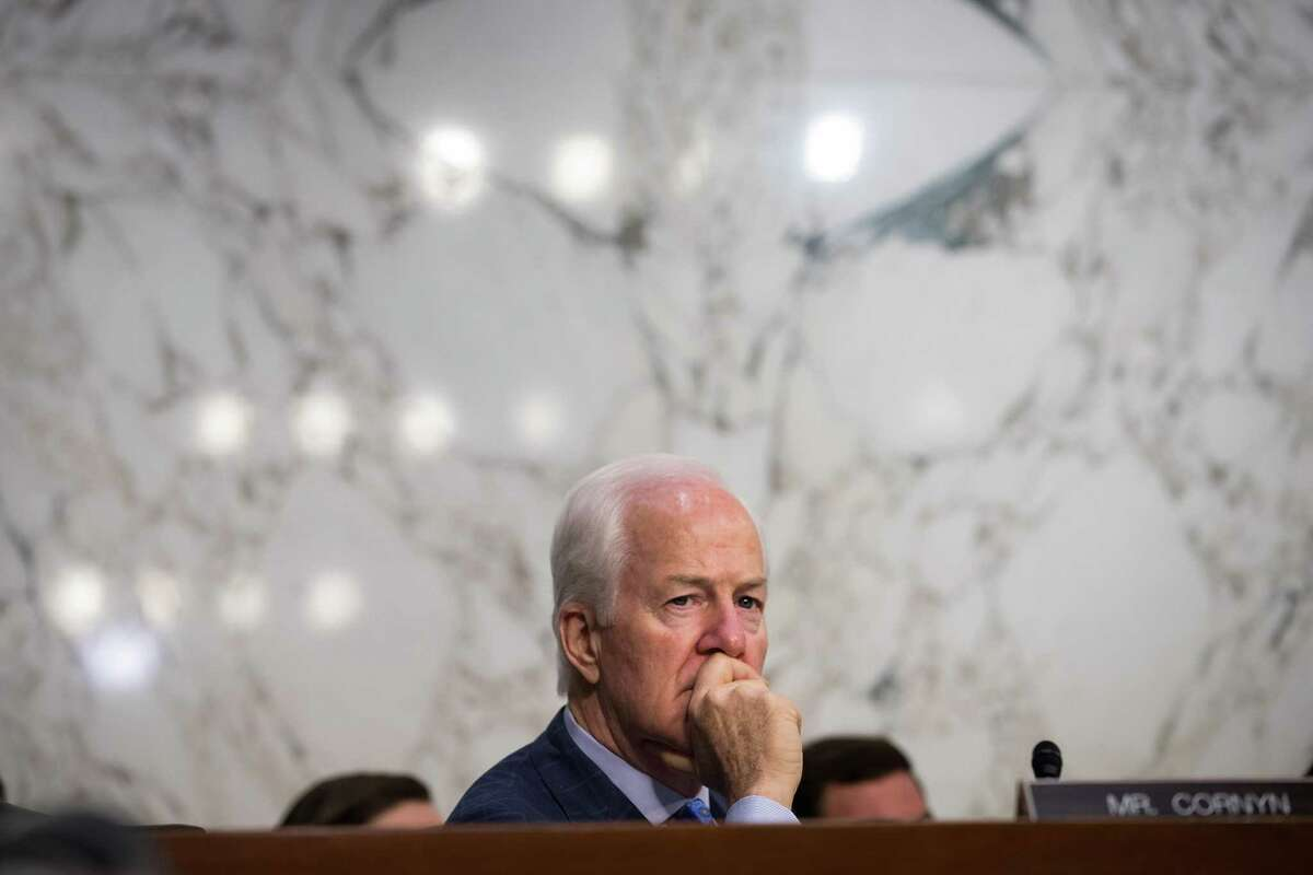 WASHINGTON, DC - JULY 26: Sen. John Cornyn (R-TX) listens to testimony during a Senate Judiciary Committee hearing titled 'Oversight of the Foreign Agents Registration Act and Attempts to Influence U.S. Elections' in the Hart Senate Office Building on Capitol Hill, July 26, 2017 in Washington, DC. On Tuesday, the committee withdrew its subpoena for former Trump campaign chairman Paul Manafort as he agreed to turn over documents and continue negotiating about being interviewed by the committee. (Photo by Drew Angerer/Getty Images)