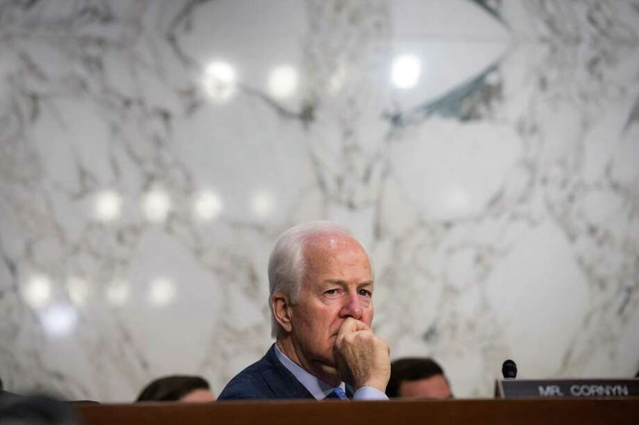 WASHINGTON, DC - JULY 26: Sen. John Cornyn (R-TX) listens to testimony during a Senate Judiciary Committee hearing titled 'Oversight of the Foreign Agents Registration Act and Attempts to Influence U.S. Elections' in the Hart Senate Office Building on Capitol Hill, July 26, 2017 in Washington, DC. On Tuesday, the committee withdrew its subpoena for former Trump campaign chairman Paul Manafort as he agreed to turn over documents and continue negotiating about being interviewed by the committee. (Photo by Drew Angerer/Getty Images) Photo: Drew Angerer, Staff / Getty Images / 2017 Getty Images