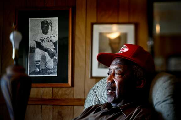 "Elijah ""Pumpsie"" Green is seen in his El Cerrito home on Wednesday, June 24, 2009.  Green was the first African-American player to play for the Boston Red Sox which was the last Major League Baseball team to integrate.  He started with the team in 1959."