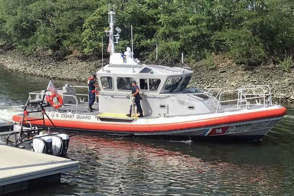 Rescue units, including the USCG, responded to the area of Penfield Reef in Fairfield, Conn., on Saturday, Aug. 19, 2017, to search for two missing fishermen. The search began around 8 a.m. and switched to recovery mode around 2 p.m.