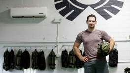 Aaron Holmes in his new fitness studio, specializing in adventure and core training, at Method & Crew. The concept is centered around building core stability and training your body to move more efficiently where it counts the most - life outside the gym. Wednesday, Aug. 2, 2017, in Houston. ( Karen Warren / Houston Chronicle )