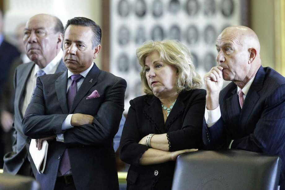Senators Juan Hinojosa (from left) Carlos Uresti, Jane Nelson and John Whitmire listen to arguments presented to the bench debating the legitimacy of the summer session on the opening day of the special legislative session on July 18. The session ended Tuesday. Photo: Tom Reel /San Antonio Express-News / 2017 SAN ANTONIO EXPRESS-NEWS