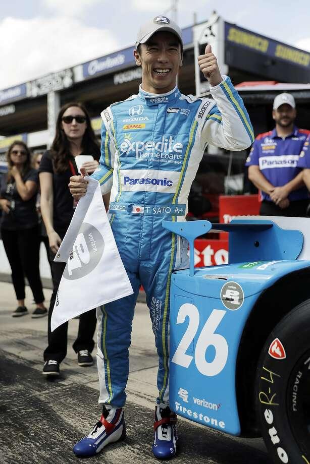 Takuma Sato won his second pole of the year. Photo: Matt Slocum, Associated Press