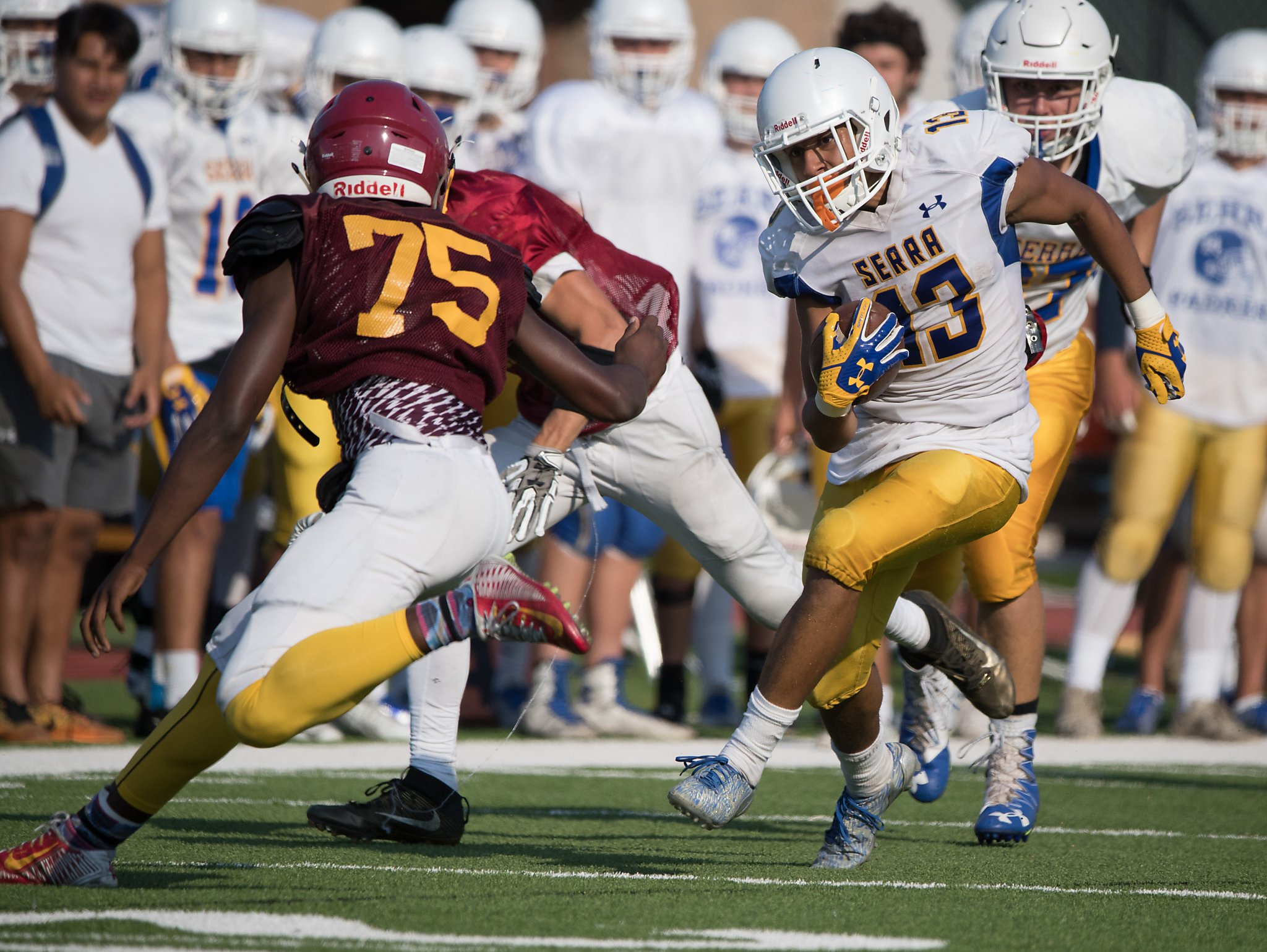 prep football teams showcase talent in scrimmages sfgate