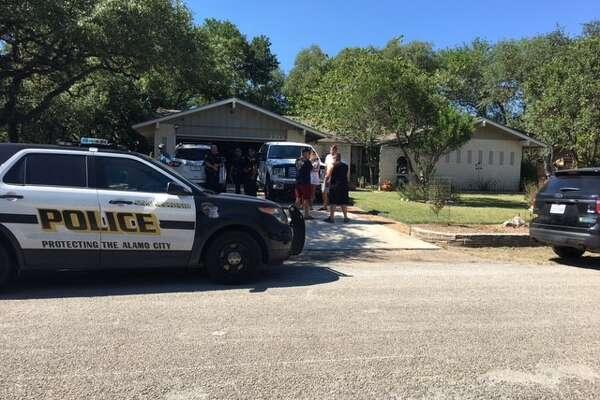 San Antonio police investigate a possible murder-suicide on the North Side Saturday Aug, 19, 2017.