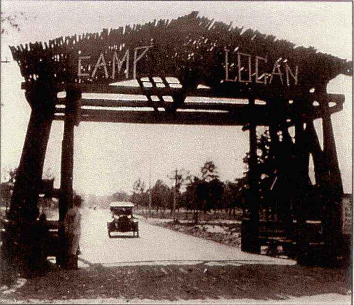 Camp Logan, circa 1917,  was a World War I  Army training facility located where Memorial Park is now.