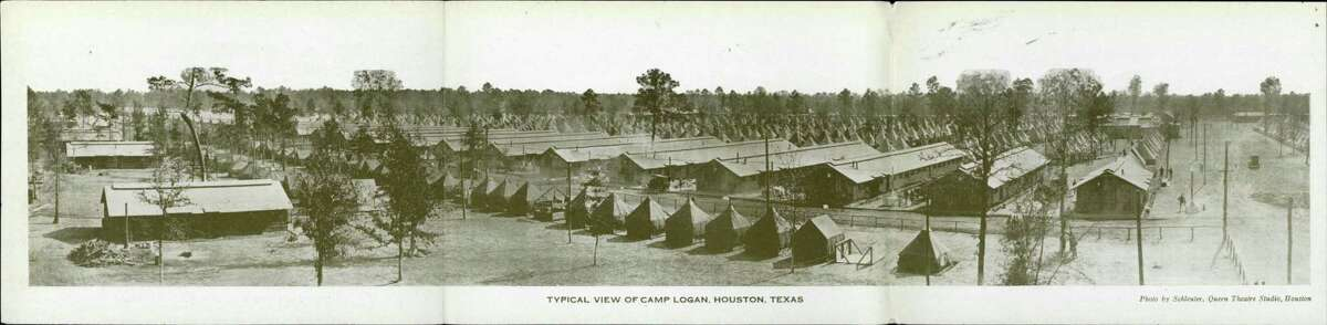A photograph of Camp Logan from the Brazoria County Historical Museum Collection.