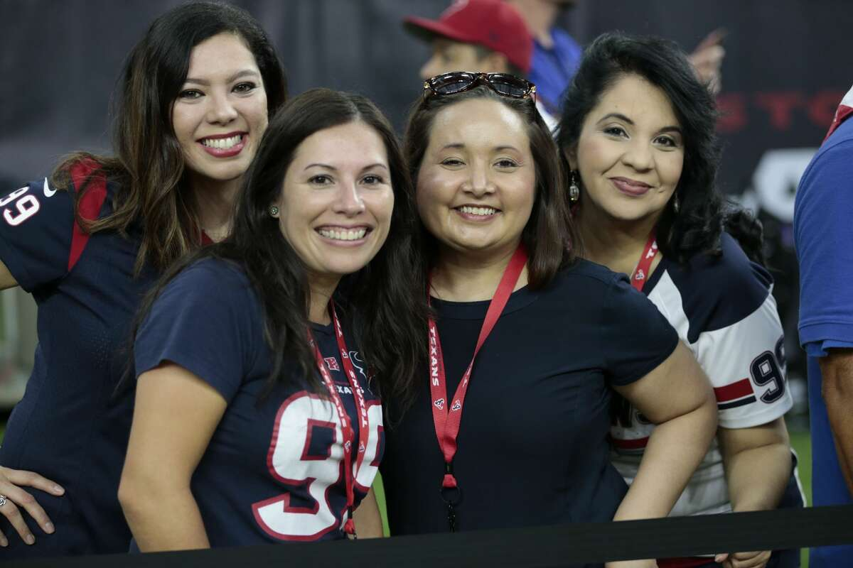 PHOTOS: Fans at Texans-Patriots game. Houston Texans fans watch warm ups before NFL pre-season football game between the Texans and the New England Patriots at NRG Stadium on Saturday, Aug. 19, 2017, in Houston. ( Brett Coomer / Houston Chronicle ) Browse through the photos to see fans at the Texans-Patriots preseason game at NRG Stadium