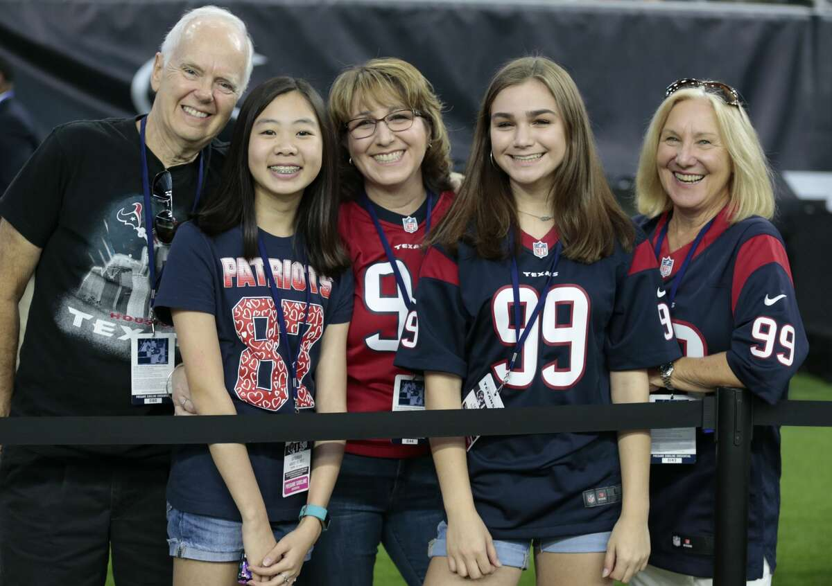 Houston Texans fans watch warm ups before NFL pre-season football game between the Texans and the New England Patriots at NRG Stadium on Saturday, Aug. 19, 2017, in Houston. ( Brett Coomer / Houston Chronicle )