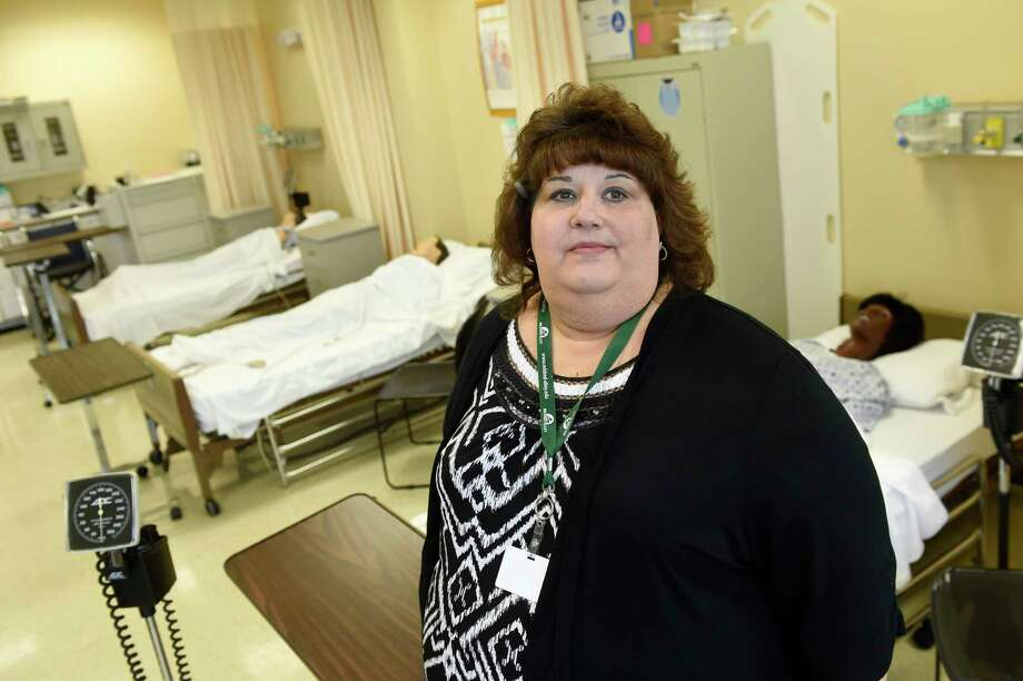 Valerie Riviello-Drew in July 2016 at Mildred Elley in Albany, where she teaches nursing classes. (Cindy Schultz / Times Union archive) Photo: Cindy Schultz / Albany Times Union
