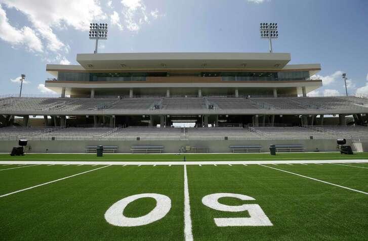 The Mike Johnston Field at Katy ISD Legacy Stadium, 5070 Franz Rd., is shown Thursday, Aug. 17, 2017, in Katy. ( Melissa Phillip / Houston Chronicle )
