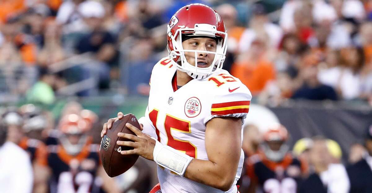 The Chiefs felt good enough about Patrick Mahomes, who completed 22 of 35 passes for 284 yards, no touchdowns and one interception in his lone rookie start, to move on from former Pro Bowl quarterback Alex Smith and trade him to Washington. (Photo by Andy Lyons/Getty Images) PHOTOS: See Texans in action during training camp at The Greenbrier in White Sulphur Springs, West Va.