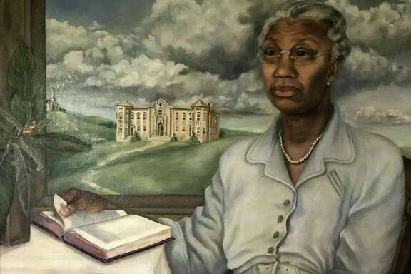 This portrait of Artemisia Bowden, a founder and president of St. Philip's College, was painted in 1948 by Bess King Pyle.