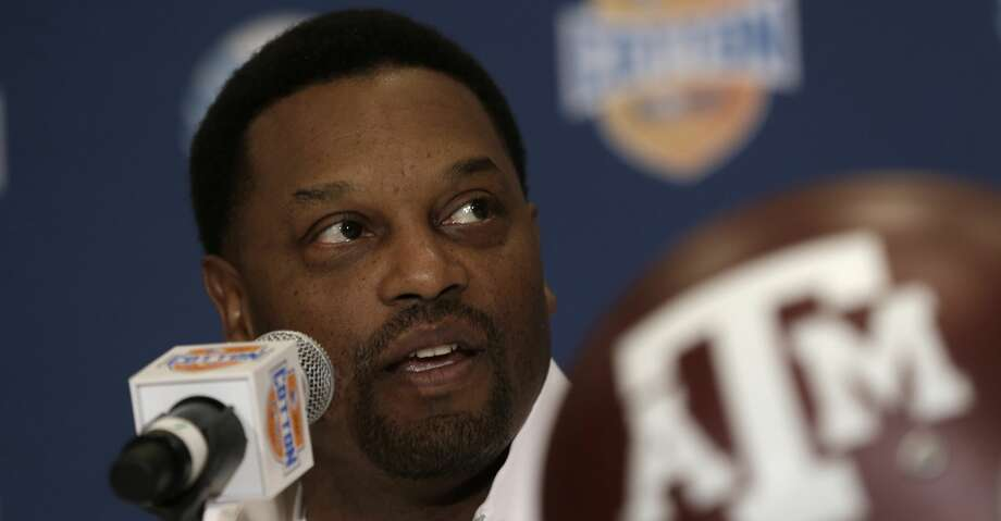 "Texas A&M coach Kevin Sumlin said on Saturday night that he was ""proud"" of Texas A&M for canceling a planned white nationalist rally for Sept. 11 on the A&M campus. Photo: LM Otero/AP"