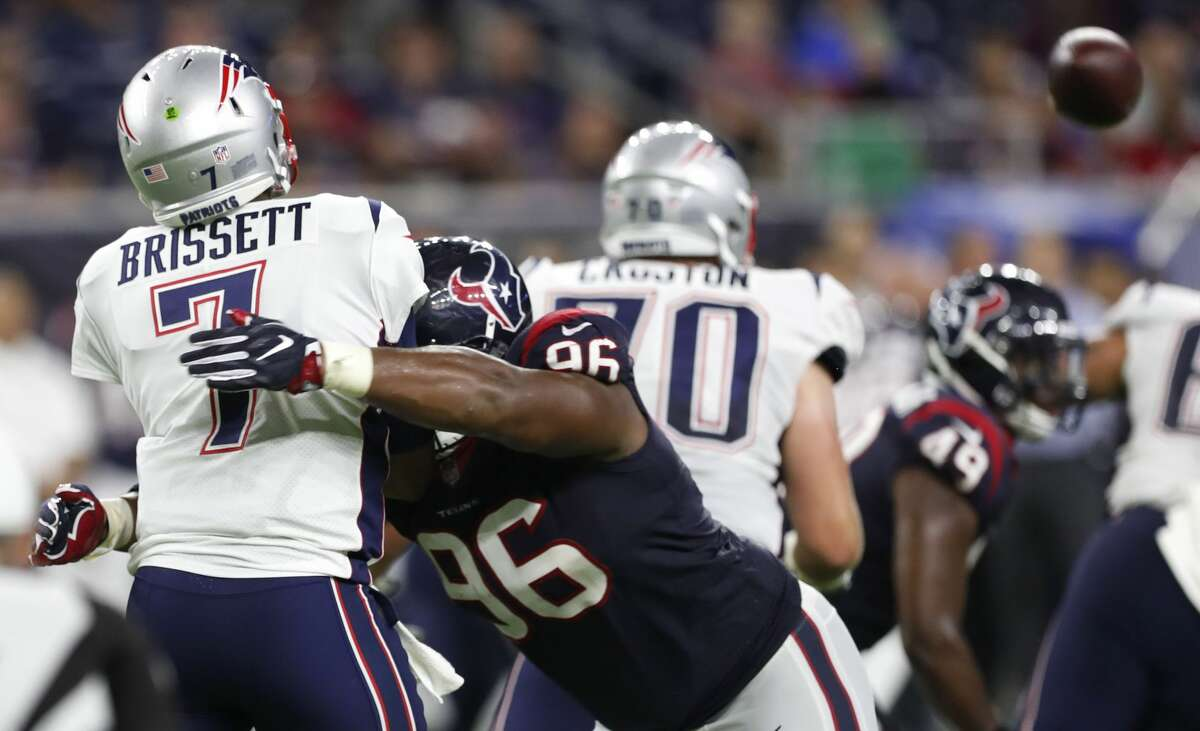 Eli Ankou never played a regular-season game for the Texans but they were able to get a seventh-round pick from the Cowboys for him.